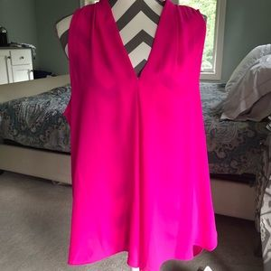 Vince Camuto hot pink sleeveless blouse